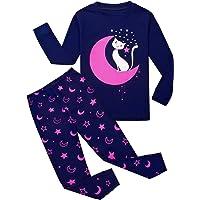 Garsumiss Pijamas para Niño Dos Piezas Pijama de Dinosaurio Manga Larga Invierno Pijama 2-9 Años
