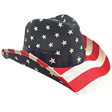 Image Unavailable. Image not available for. Color  American Flag Cowboy Hat c5ae799855e5