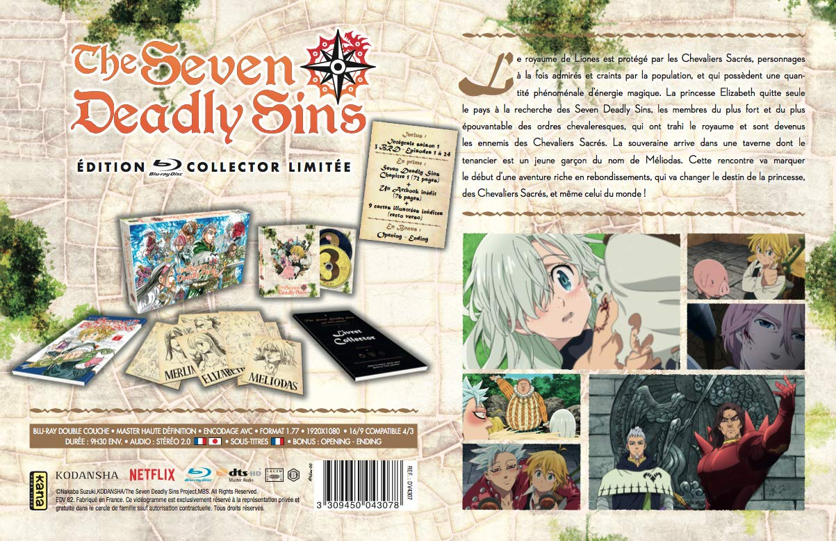 Seven Deadly Sins - Saison 1 [Francia] [Blu-ray]: Amazon.es ...