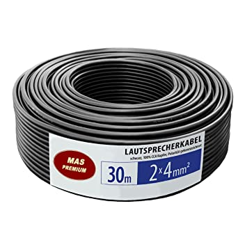 AWG 11 - 30m - 2 x 4 mm² caja del altavoz Cable de audio de