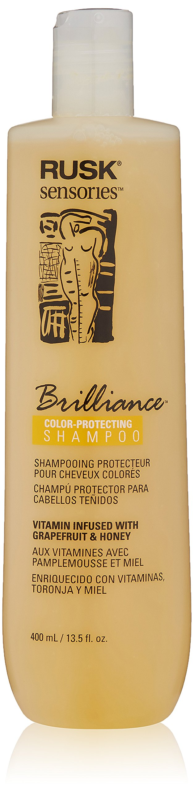 RUSK Sensories Brilliance Grapefruit and Honey Color Protecting Shampoo, 13.5 Fl. oz.