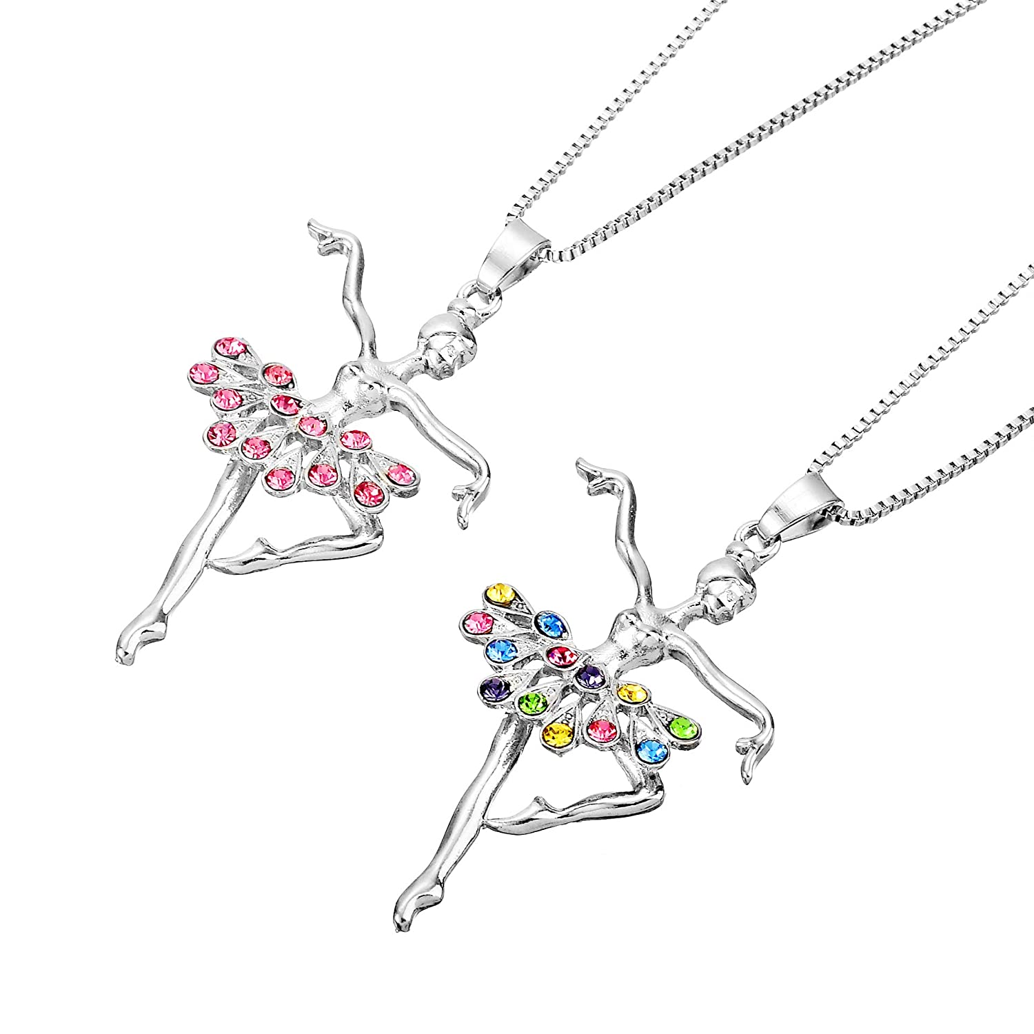 086d82e84caf YILIN Little Girl Necklace Dancer Ballet Recital Gift Ballerina ...