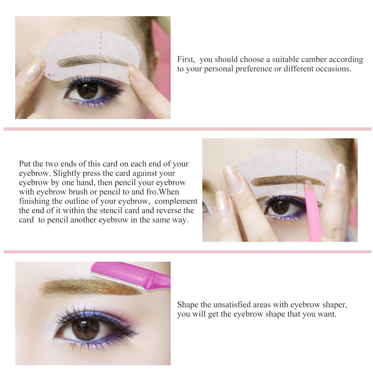 Amazon Ruimio Eyebrow Shaper 4pk Eyebrow Stencil 9pk Beauty