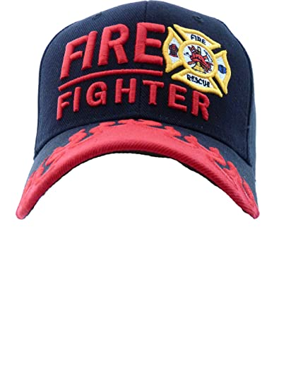 08698247eeb9b0 Amazon.com: Fire Fighter, Fire and Rescue Baseball Cap, First In ...