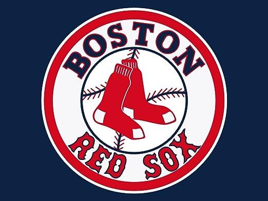Amazon|MLBボストンレッドソックスロゴポスター24 x 36|アート ...