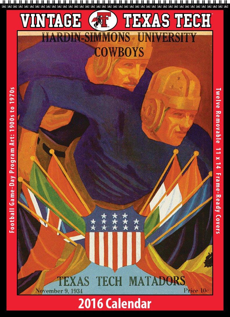 Texas Tech Red Raiders 2016 Vintage Football Calendar: Asgard Press:  9781630362034: Amazon.com: Books