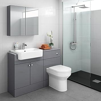 Kombiniert Waschkommode Waschbecken Wc Spiegelschrank Badezimmer