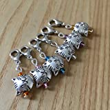 Crochet Stitch Markers, Snag Free Stitch Markers Set, Crochet Tools, Cheshire Cat Stitch Markers, Gift for Crazy Cat Lady, Gift for Crocheters, Tibetan Silver Stitch Markers