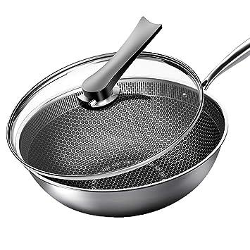 Cocina de inducción alemana de acero inoxidable, menos humo, antiadherente, wok, wok