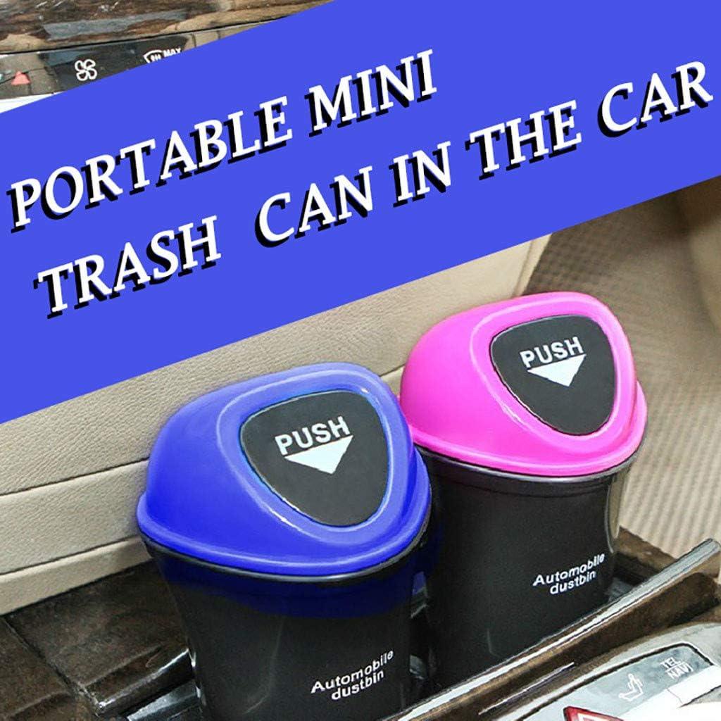 Hot Pink Hefine Car Trash Can with Lid Plastic Waterproof Floor Mini Leak Proof Garbage Bin Rubbish Organiser Litter Boot Storage Container Wastebasket for Car Interior//Office//Home 21 /× 9.8 /× 7 cm