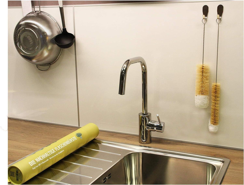 Sodastream-Reiniger Kratzfrei Baby-Flaschen Reinigungsb/ürste - Robuste Kaktusfaser B/ürste mit Baumwollkopf Healthtastic /® Innovative Maxi-Clean Flaschenb/ürste 2er Set