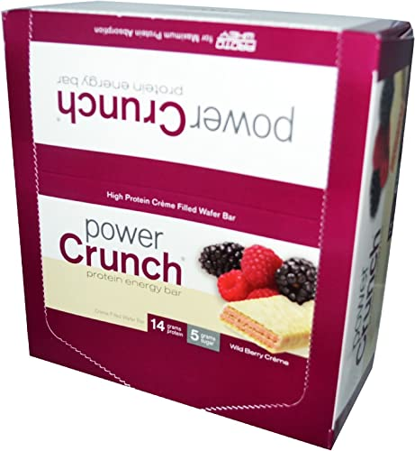 Power Crunch Protein Energy Bar Wild Berry Creme 12 1.4 Ounce Bar S