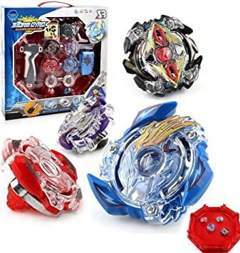 OBEST NIU Beyblade Peonzas with Spinning Fusión 4D 4 Box Gyro ...