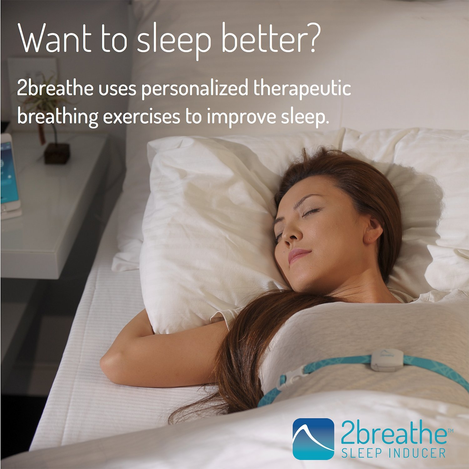 2breathe Sleep Inducer - Sleep Sound System. Smart Device and Mobile App to Induce Sleep. Guides You to Slow Breathing with Prolonged Exhalation using Sounds. Natural Sleep Therapy Machine by RESPeRATE (Image #4)