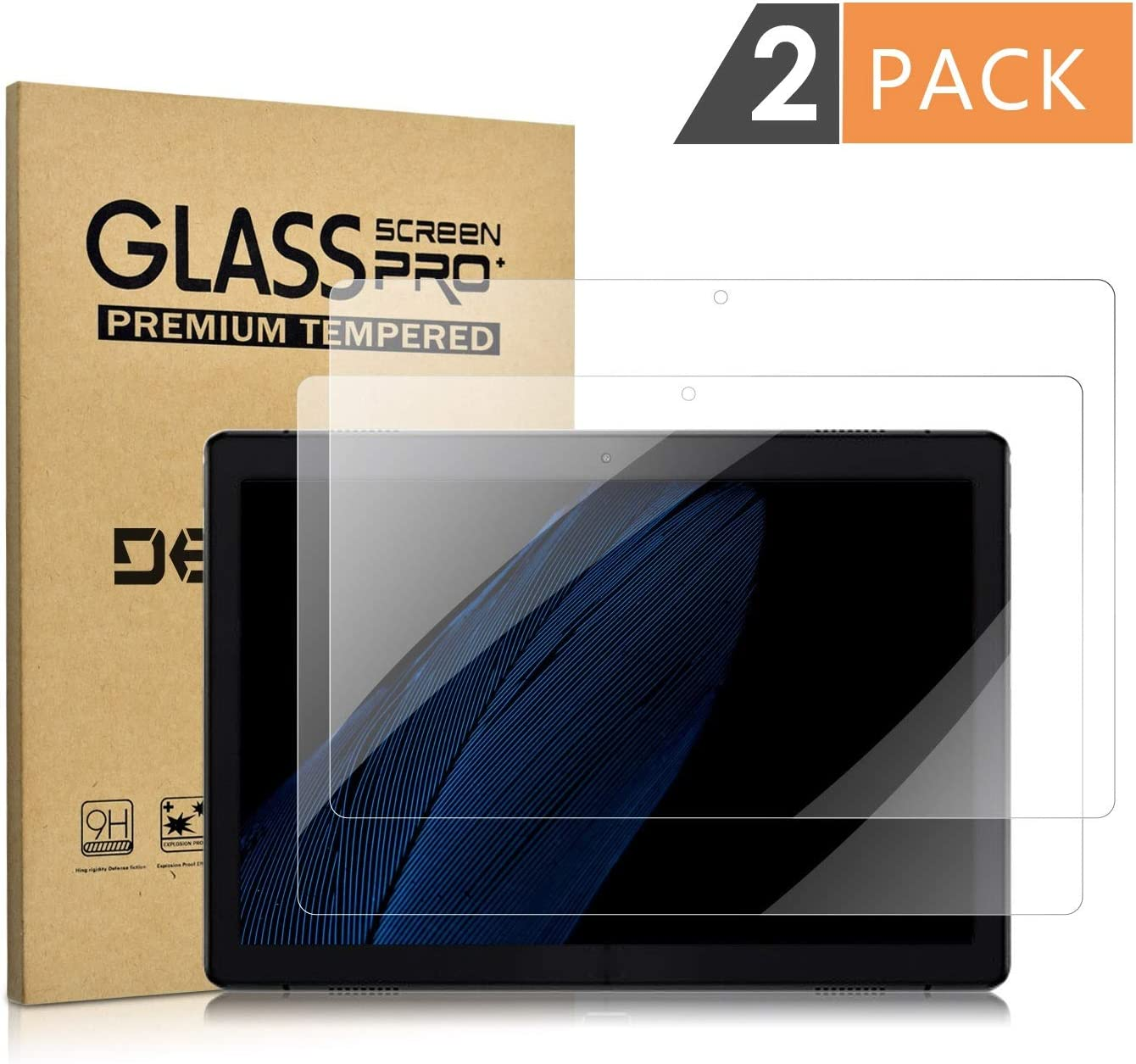 [2 Pack] Tempered Glass Screen Protector for Lenovo Tab M10(NOT Lenovo Smart Tab P10/E10) DETUOSI Screen Protector for Lenovo M10 TB-X605F Anti Explosion Scratch Resist Bubble Free