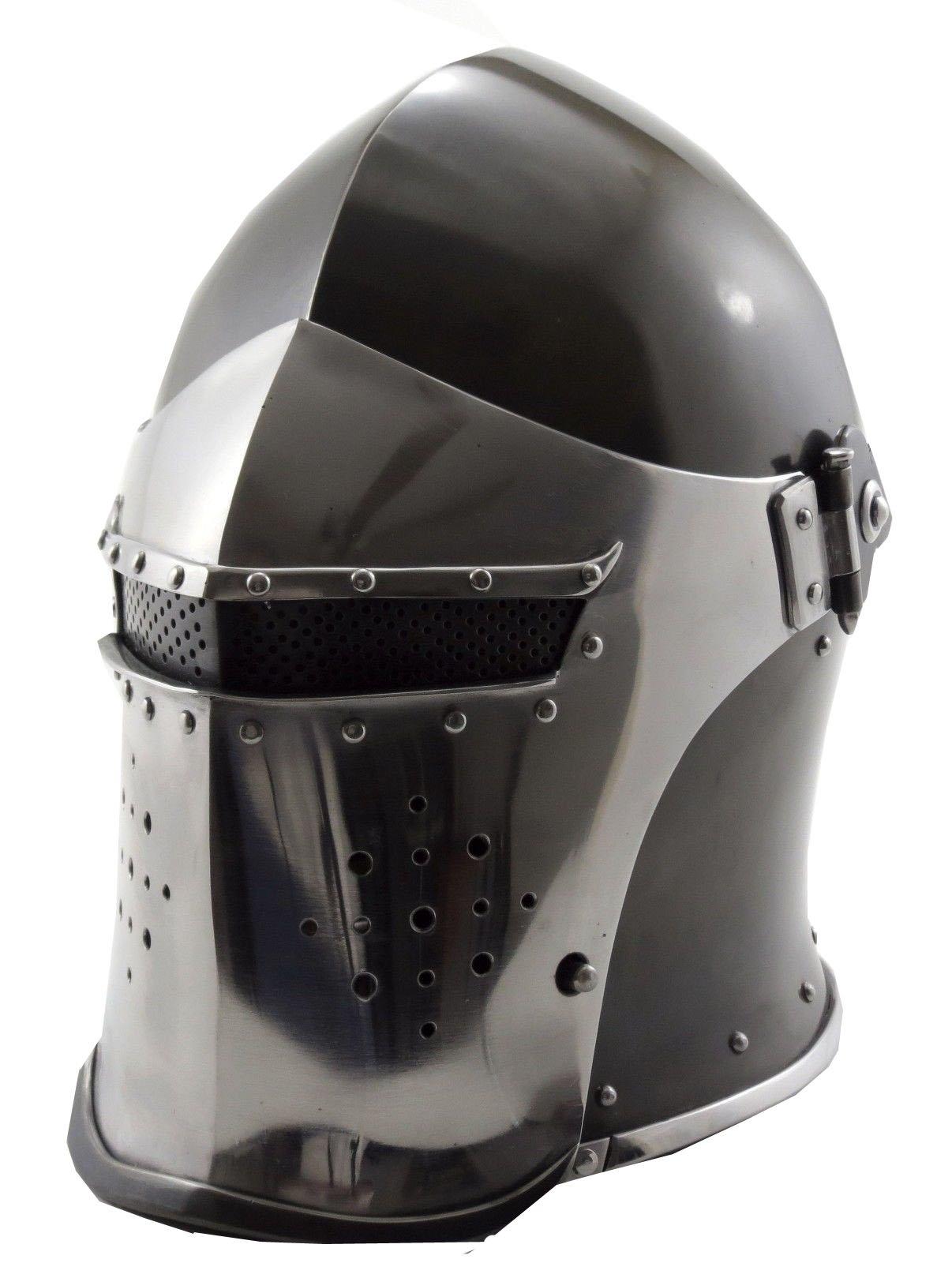 VTC Helmet New Black Barbuta Roman Gladiator Armor Helmet