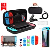 BuFan 15 en 1 Funda para Nintendo Switch, Nadole kit de accesorios con 2 Protector de Pantalla Vidrio/ Carcasa…
