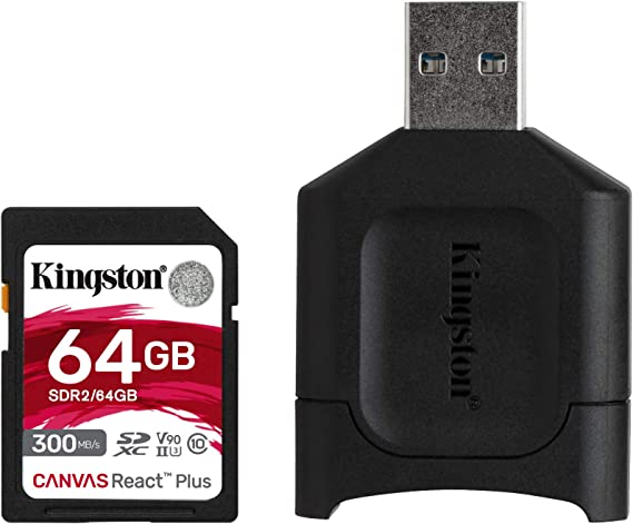100MBs Works with Kingston SanFlash Kingston 64GB React MicroSDXC for Karbonn Platinum P9 Pro with SD Adapter