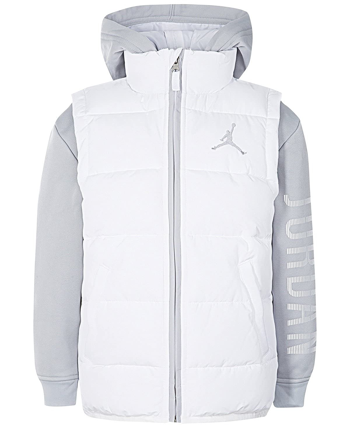 8f7cbee344dd Amazon.com  NIKE Air Jordan Big Boys  Performance Vest Jacket (White ...