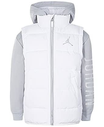 6a9cab21f3b5a3 Amazon.com  NIKE Air Jordan Big Boys  Performance Vest Jacket (White ...
