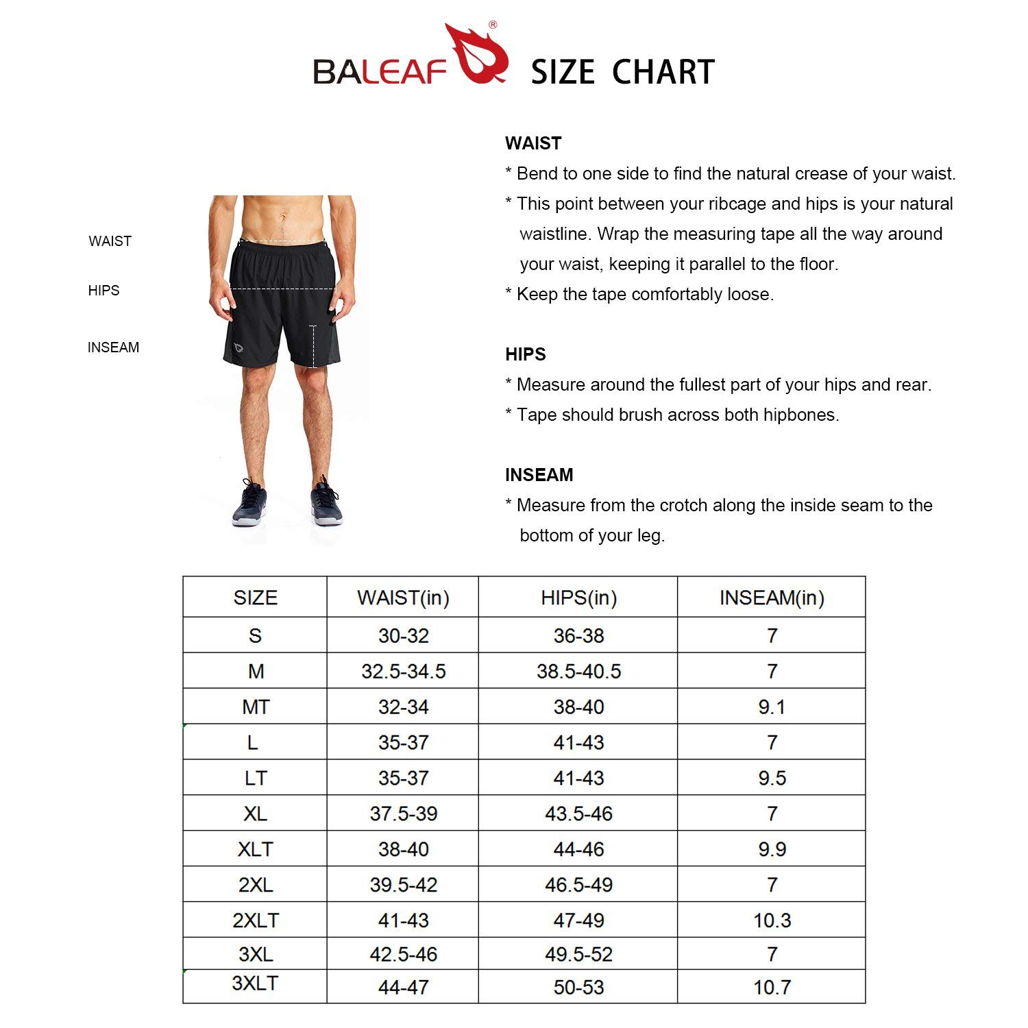 BALEAF Men 7 Athletic Running Shorts Quick Dry Mesh Liner Back Zip Pocket Fathers Day