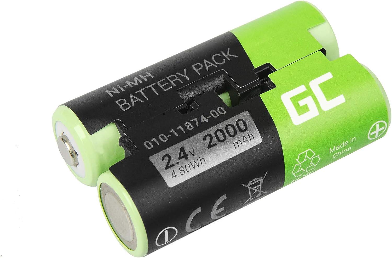 Green Cell ® 010-11874-00 361-00071-00 Batería para GPS Garmin GPSMAP 62s 66st Pro Oregon 600 600t 700 750t 650 Pro Astro 430 900 Alpha 50 Atemos 50 GPSMAP 64 Striker 4 (NI-MH Células 2000mAh 2.4V)