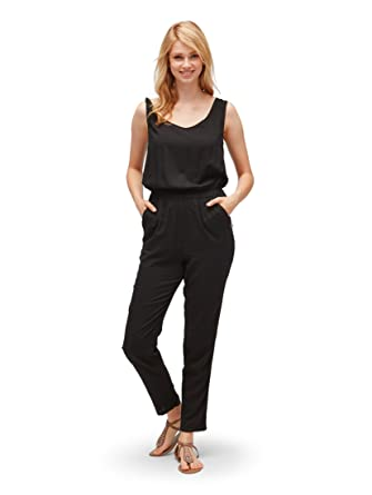 6660856864b082 TOM TAILOR Denim für Frauen Overalls & Jumpsuits Ärmelloser Jumpsuit Black,  ...