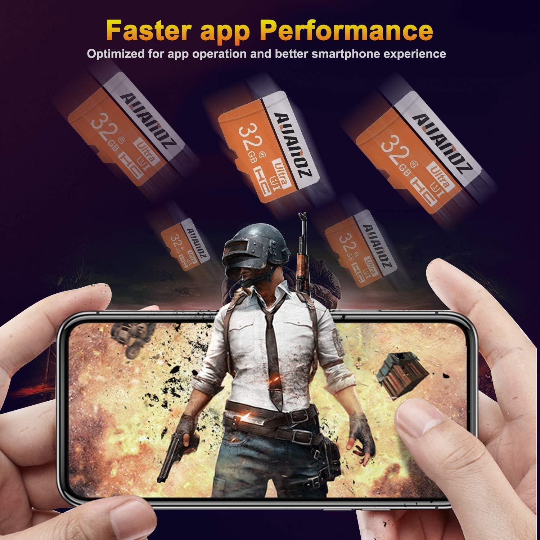avec Adaptateur. Carte M/émoire TF 64 Go,Carte M/émoire Auanoz Ultra Class 10 Carte M/émoire Haute Vitesse pour T/él/éphone,Tablette Et PC Bleu-64gb