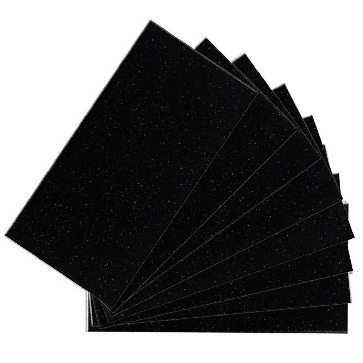 SkinnyTile 4415 Glass Wall Tile, 6'' x 3'', Black