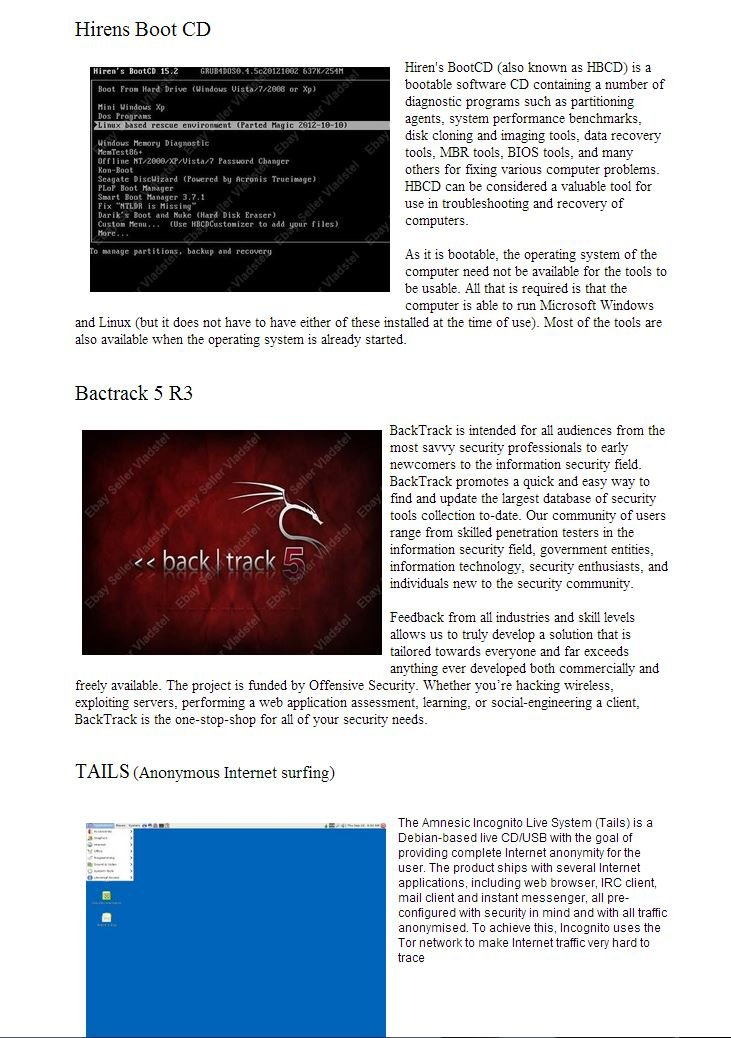 16GB USB Multiboot Flash Drive, 15 bootable Systems, repair Windows, enjoy  Linux