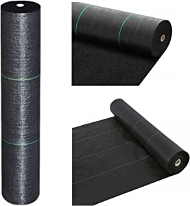 TIIDOW Premium 5oz Double Layer Pro Garden Weed Barrier Landscape Fabric Durable & Heavy-Duty Weed Block Gardening Mat, Easy Setup & Superior Weed Control, Eco-Friendly & Convenient Design 3ft x 100ft