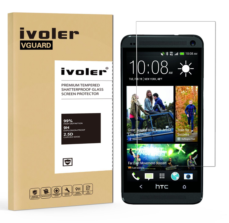 iVoler Protector de Pantalla para HTC One M7, Cristal Vidrio Templado Premium: Amazon.es: Electrónica