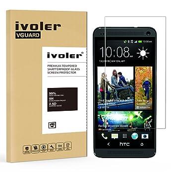 970b0959f75 iVoler Protector de Pantalla para HTC One M7, Cristal Vidrio Templado  Premium: Amazon.es: Electrónica