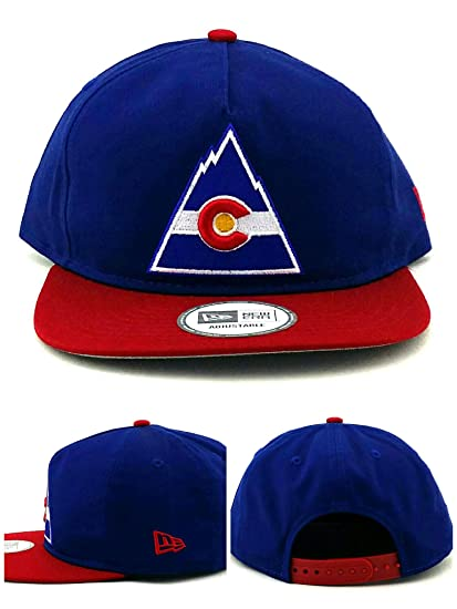 reputable site f2ff8 af663 ... amazon new era colorado avalanche nhl 9fifty 5 panel c flag blue red  snapback hat cap