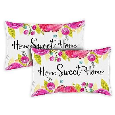 Toland Home Garden 771232 Sweet Home 12 x 19 Inch Indoor/Outdoor, Pillow Case (2-Pack) : Garden & Outdoor