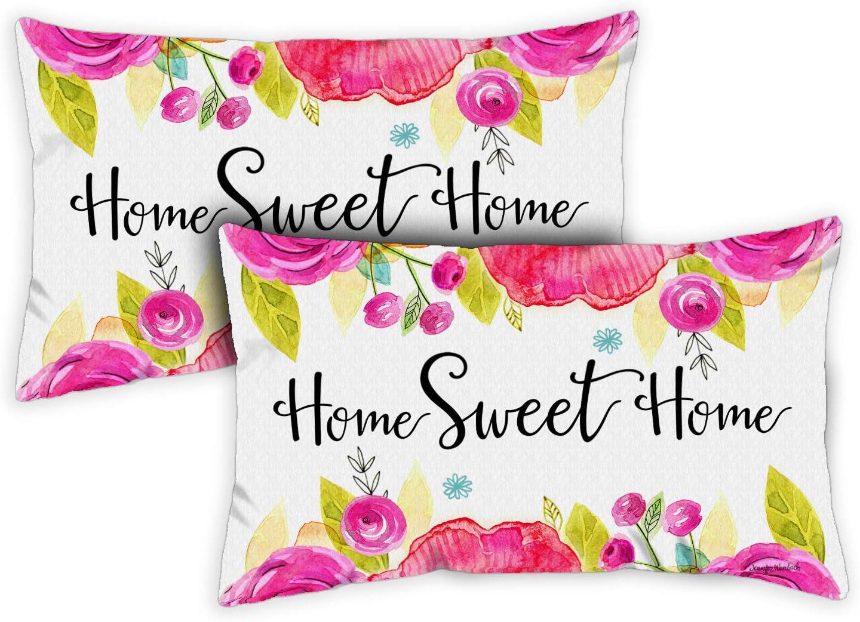 Toland Home Garden 771232 Sweet Home 12 X 19 Inch Indoor Outdoor Pillow Case Only 2 Pack Amazon Co Uk Garden Outdoors
