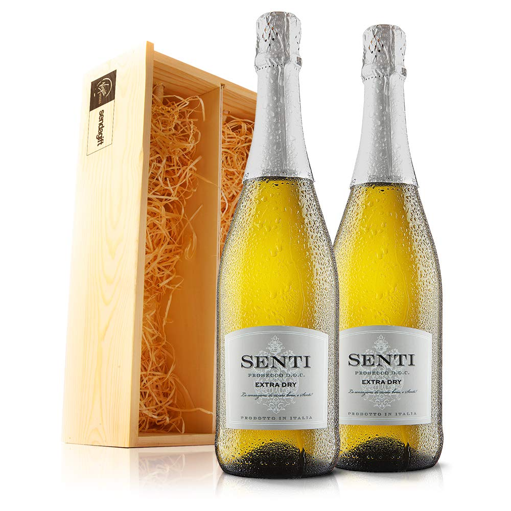 Sendagift By Virgin Wines Prosecco Wine Gift In Wooden Gift Box