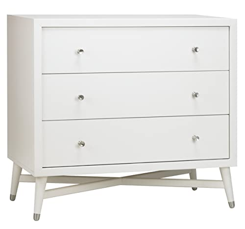 Dwellstudio Mid Century 3 Drawer Dresser, French White