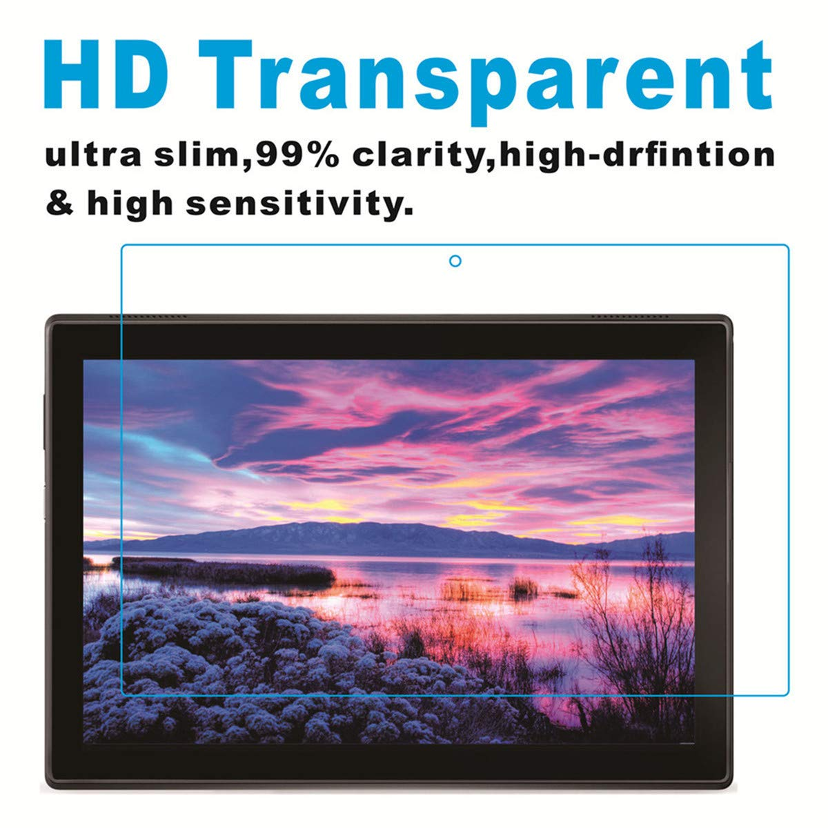 KAPRNA Screen Protector for Samsung Galaxy Tab A 10.1 inch 2019 ,2-Pack High Definition Tempered Glass Film for Samsung Galaxy Tab A 10.1 2019 SM-T510//SM-T515 Tablet