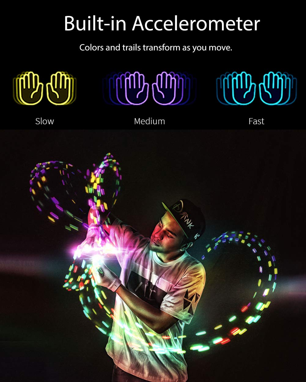 EmazingLights Elite Element Light Up Glove Set - Flashing Finger Light LED Gloves for Raves & Light Shows Featured on Shark Tank by EmazingLights (Image #5)