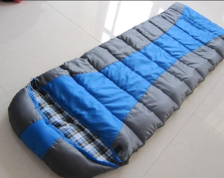 Bolsas De Dormir De Camping Bolsas Al Aire Libre Bolsas Camping De Dormir De Abrigo Para Adultos Costura De Algodón,Azul b7bf1c