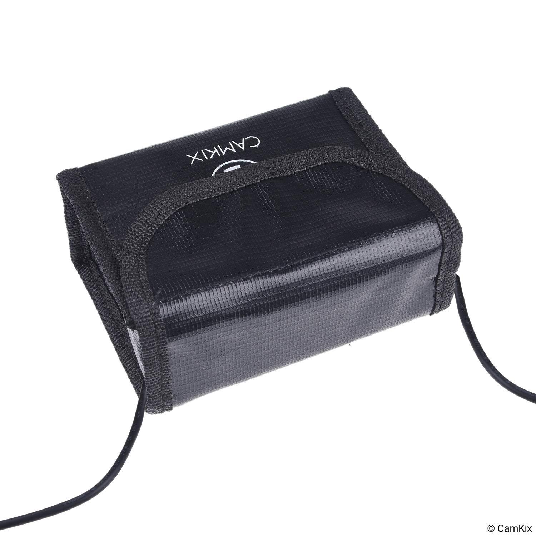 CamKix Explosionsgesch/ützte LiPo Akku Tasche Kompatibel mit DJI Mavic Air Sichere Ladung Feuerresistente Sicherheits- und Aufbewahrungstasche Transport F/ür 2 Akkus