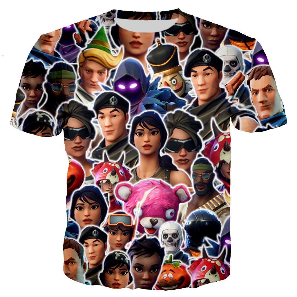 YX GIRL Fortnite t Shirts Unisex 3D Printed T-Shirts Funny t Shirt (S, Fortnite t Shirts)