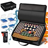 Battery Organizer Storage Case, Fireproof Waterproof Explosionproof Safe Carrying Bag Hard Holder Box with Battery…