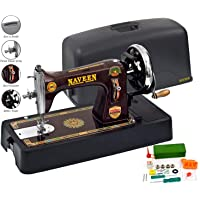 Naveen Sewing Machine Domestic Square Model with Coverset (Metallic Red Color)-2
