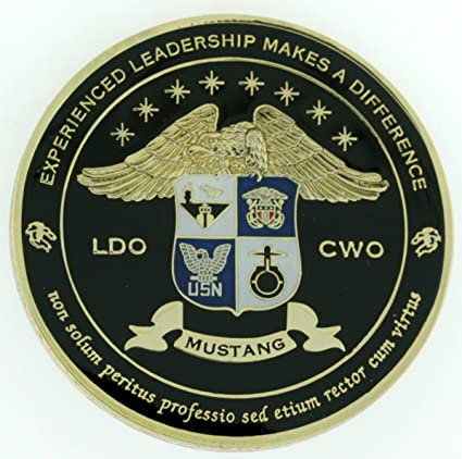 Amazon Mustang Ldo Cwo Classic Crest Us Navy Challenge Coin