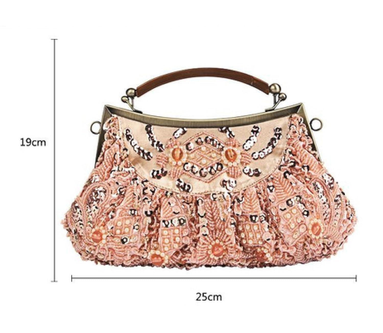 Dinner Tasche Retro Handtasche Handtasche Messenger Bag Handtaschen,8-OneSize Laidaye