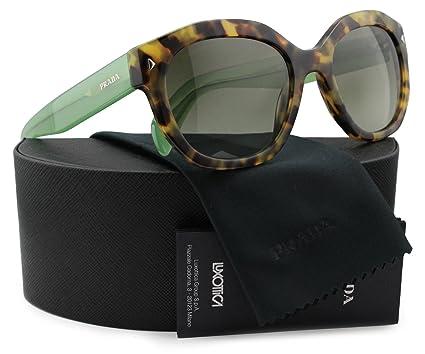 Amazon.com: Prada spr12s anteojos de sol café, verde, W ...