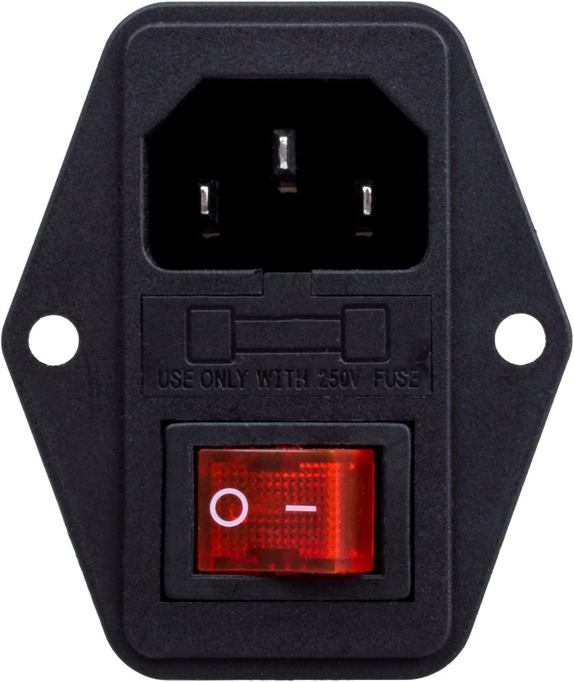 AC Power Entry Modules AC 1 INLET//OUTLET FUSED//SNAP FIT 5 pieces