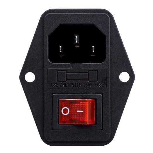 18 opinioni per Spinotto adattatore maschio,modulo interruttore a 3 Pin IEC320 C14,10A 250V